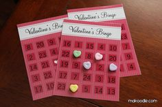 Bingo is one of those games that kids can start to plan early on — and it helps them practice number recognition. Buy a few candy hearts, print out several Valentine's Day bingo cards, and let the good times roll! Valentine Bingo, Kinder Valentines, Valentine Crafts For Kids, Valentines Day Activities, Valentines Day Party, Be My Valentine, Valentine Ideas, Printable Valentine, Holiday Activities