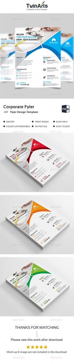 #Flyer #Template - Flyers Print Templates Download here: https://graphicriver.net/item/flyer-template/19429167?ref=alena994