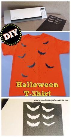 diy halloween tshirt using a silhouette cameo - Homemade Halloween Shirts