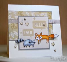 Sweet n Spiffy: Seize the Sketch Time! STS Stampin' Up!: Life in the Forest stamp set Kids Cards, Cards Diy, Colouring Techniques, Forest Friends, Animal Cards, Stampin Up Cards, Birthday Cards, Card Making, Industrial Dining