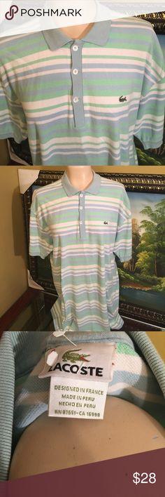 LACOSTE POLO 100% COTTON Beautiful Lacoste polo 100% cotton excellent condition Lacoste Shirts Polos