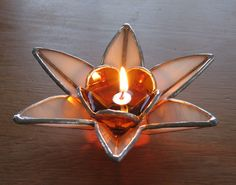 Stained Glass Oil lamp. $60.00, via Etsy.