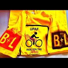 Team B+L's gear for the @UPAF Ride for the Arts! #50Miles