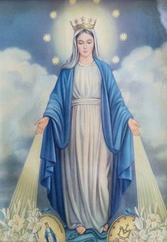 All about Mary. — Our Lady of the Miraculous Medal Jesus Mother, Blessed Mother Mary, Divine Mother, Blessed Virgin Mary, God Jesus, Religious Pictures, Jesus Pictures, Catholic Art, Religious Art