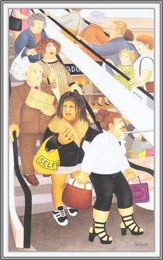 Naive, Beryl Cook, Funny Sexy, English Artists, Mature Fashion, Isabelle, Hens Night, Ladies Night, Cook Art
