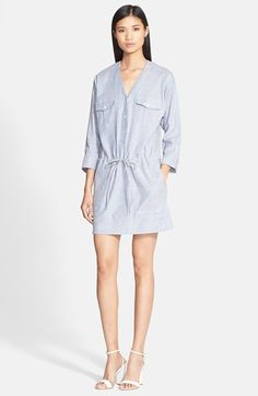 Theory 'Trisal' Linen Blend Shift Dress available at #Nordstrom