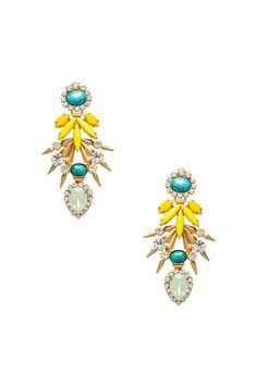 Elizabeth Cole Earrings in Turquoise