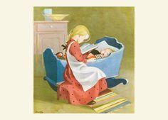 MARTTA WENDELIN | Osastot | Korttien Talo Finland, Martini, Illustrators, Toddler Bed, Paper Crafts, Children, Home Decor, Daughters, Child Bed