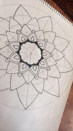 Mandala how to Mandalas Painting, Mandalas Drawing, Zentangle Drawings, Doodle Drawings, Dot Painting, Doodle Art, Painting & Drawing, Mandala Dots, Mandala Pattern
