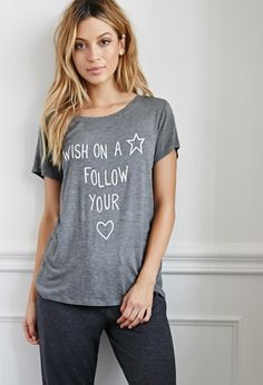 Wish On A Star PJ Tee | Forever 21 - 2000140862