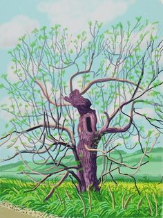 David Hockney, 'The Arrival of Spring in Woldgate, East Yorkshire in 2011 (twenty eleven) - 18 May,' Galerie Lelong David Hockney Ipad, David Hockney Art, David Hockney Paintings, David Hockney Landscapes, Pop Art Movement, Ipad Art, Art Plastique, Illustrations, Photography
