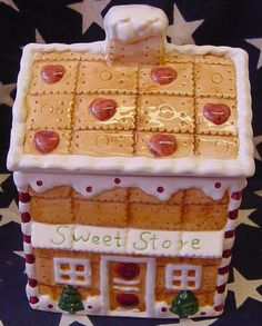 Charming Gingerbread house cookie jar on Collectors Quest