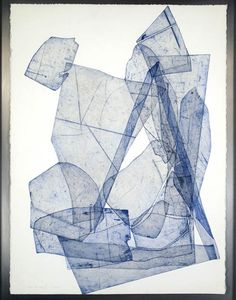'batholith etchings': Aluminum plate monoprints on Rives BFK 22″ x 30″ in welded aluminum frames, 2010-2011. By Eben Goff