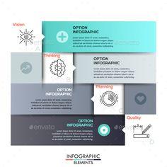 Modern Infographic Rectangle Template PSD, Vector EPS, AI Illustrator. Download here: https://graphicriver.net/item/modern-infographic-rectangle-template/17272326?ref=ksioks