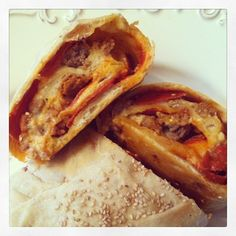 Stromboli-All you need is pizza dough and your favorite toppings. Roll it up, bake, slice and enjoy!