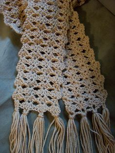 """Easy Crochet Afghans us - note the word """"easy"""" - hooked me! easy scarf or good pattern for afghan crochet pattern - Crochet Afghans, Afghan Crochet Patterns, Crochet Scarves, Crochet Shawl, Crochet Clothes, Knitting Patterns, Knit Crochet, Crocheted Scarf, Crochet Crafts"""