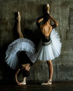 Ballerinas stretching before the recital.