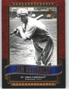 2003 SP Legendary Cuts #57 Jim Bottomley - St. Louis Cardinals (Baseball Cards) by SP Legendary Cuts. $0.88. 2003 SP Legendary Cuts #57 Jim Bottomley - St. Louis Cardinals (Baseball Cards)