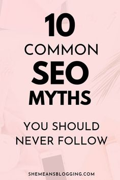 SEO is dead. SEO is easy! Don't fall into these common SEO myths. These seo misconceptions can destroy your site rankings. Click to find out common SEO myths you should never ever follow! #seotips #searchengineoptimization #seo #bloggingtips #blogtips