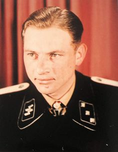 Michael Wittmann. Original AGFA colour image & not colourised, taken by Walter Frentz, Hitlers Luftwaffe cameraman probably at the Wolfslair.