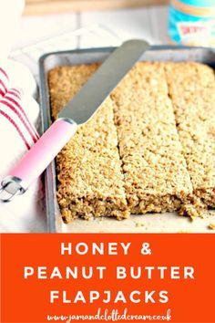 Peanut Butter Flapjacks, Peanut Butter Recipes, Bar Recipes, Cooking Recipes, Easy Flapjacks, Flapjack Recipe, Porridge Recipes, No Bake Bars, Breakfast On The Go