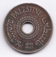 PALESTINE  20 Miles 1941 KM5  British Mandate of Palestin   RARE DATE http://www.ebay.com/itm/PALESTINE-20-Miles-1941-KM5-British-Mandate-Palestin-RARE-DATE-/161636090192?pt=LH_DefaultDomain_0&hash=item25a2430150