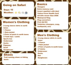 What to Pack: African Safari Packing List - Jdomb's Travels