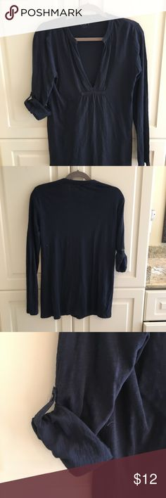 Ann Taylor Loft top Great Tunic with sleeves you can wear buttoned for the 3/4 look or not for a long sleeved look. Good condition and gently used. LOFT Tops Tunics