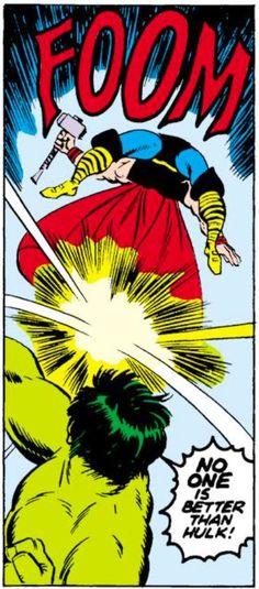 Hulk vs Thor. Gotta love the FOOM...
