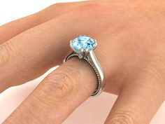 Aquamarine rings, her dream ring, Fine jewelry, Engagement Rings.