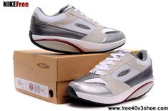 Buy Latest Listing MBT Moja White Silver Women Shoes For Sale