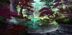 Concept art from the Elder Scrolls Online.  Ohhh my wooord!  The vibrancy and the complementary color choices are so great!