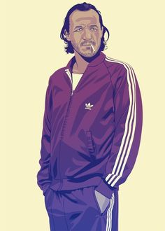"""""""Bronn"""" #GoT #GameOfThrones: Tokyo-based French artist Mike Wrobel has given nearly every Game Of Thrones character a '80s or '90s makeover"""