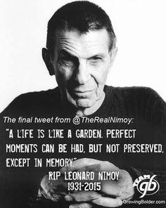 Leonard Nimoy rest in peace