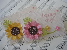 Polka dot flower card