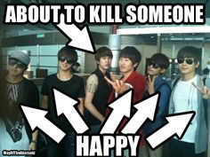 Omw Kyuhyun! why! >Actually, Sungmin doesn't look that happy either. But...he won't kill anyone, right??