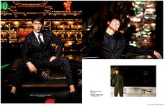 Feng Xiang Models Bold Fall Fashions from Prada, Versace + More for Elle Men Hong Kong image Elle Men Hong Kong Fashion Editorial 007 800x522