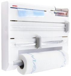 Literally one of the best kitchen ideas in the world. The go-to station that has everything you need, all in one convenient spot! The wall-mounted roll holder Parat Plus integrated dispenser for aluminum foil, plastic wrap, paper towels, and freezing … Continued
