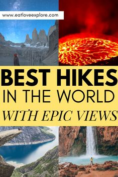 Where are the best hikes in the world with EPIC views? This post features all the best hiking destinations around the world with the best views. Travel more and spend less while seeing these amazing travel destinations! Hiking Spots, Hiking Tips, Hiking Places, Hiking Food, Hiking Gear, Hiking Backpack, Transformers, Where Is Bora Bora, Urban