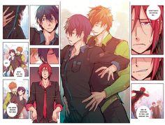 The Three Graces . Makoto Tachibana, Makoharu, Anime Guys, Manga Anime, Swimming Anime, Free Eternal Summer, Splash Free, Free Iwatobi Swim Club, Free Anime