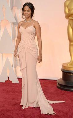 Zoe Saldana Oscars 2015 dress