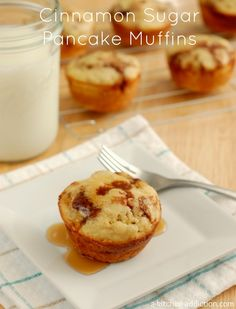 Cinnamon Sugar Pancake Muffins Recipe l www.a-kitchen-addiction.com