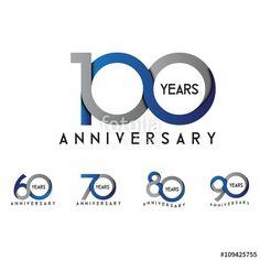 set anniversary - Buy this stock vector and explore similar vectors at Adobe Stock 60 Year Anniversary, Anniversary Logo, Layout Inspiration, Logo Design Inspiration, Button Website, 100 Years Celebration, 100 Logo, Event Logo, Star Logo