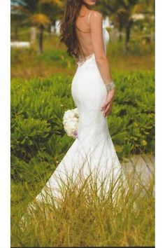 Pnina Tornai Lace Mermaid Wedding Dress 4180 *back*
