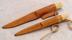 Knife scabbards, 13th century by cybernuth