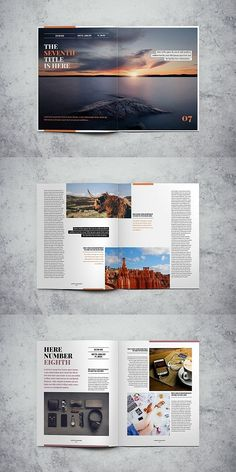 Lifestyle Magazine Template Source by ira_mathes - Mise En Page Magazine, Book And Magazine, Page Layout Design, Book Design, Cover Design, Editorial Layout, Editorial Design, Magazine Design, Indesign Templates