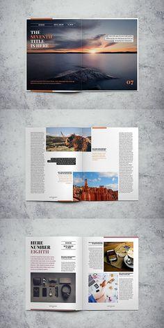 Lifestyle Magazine Template Source by ira_mathes - Page Layout Design, Magazine Layout Design, Book Design, Cover Design, Mise En Page Magazine, Book And Magazine, Brochure Layout, Brochure Design, Editorial Layout