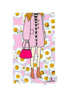 Walking On Daisies (Illustration + Collage by Sara Ottavia Carolei)