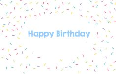 Sprinkle a little happiness on your special ones #birthday with this #happybirthday #ecard