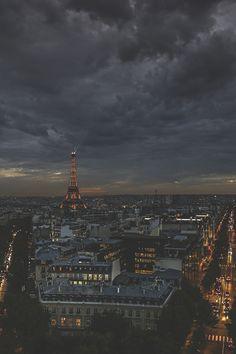Dark skies in Paris by:Christophe Femia #Paris